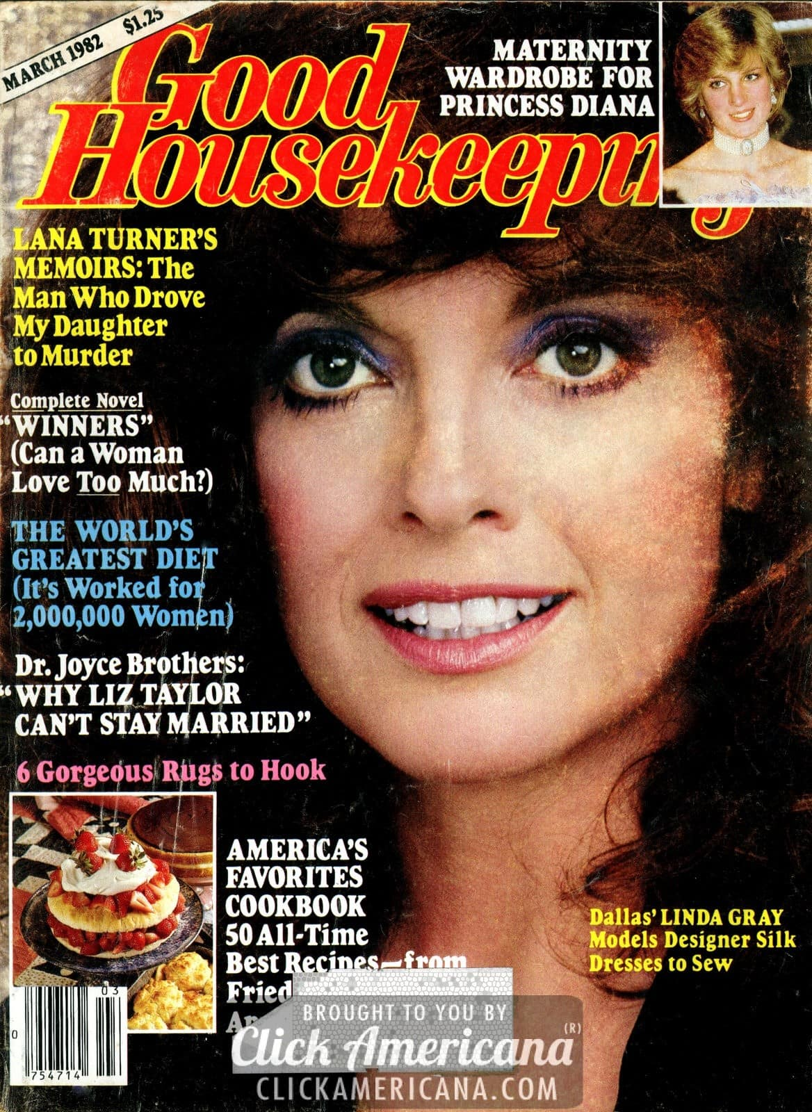 Linda Gray On The Cover Of Good Housekeeping 1982