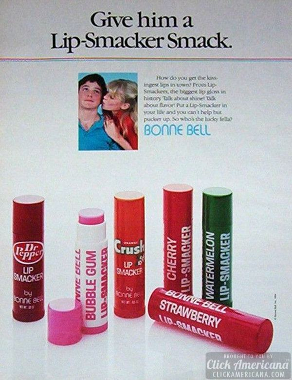 Retro ads - Give him a Lip-Smacker smack