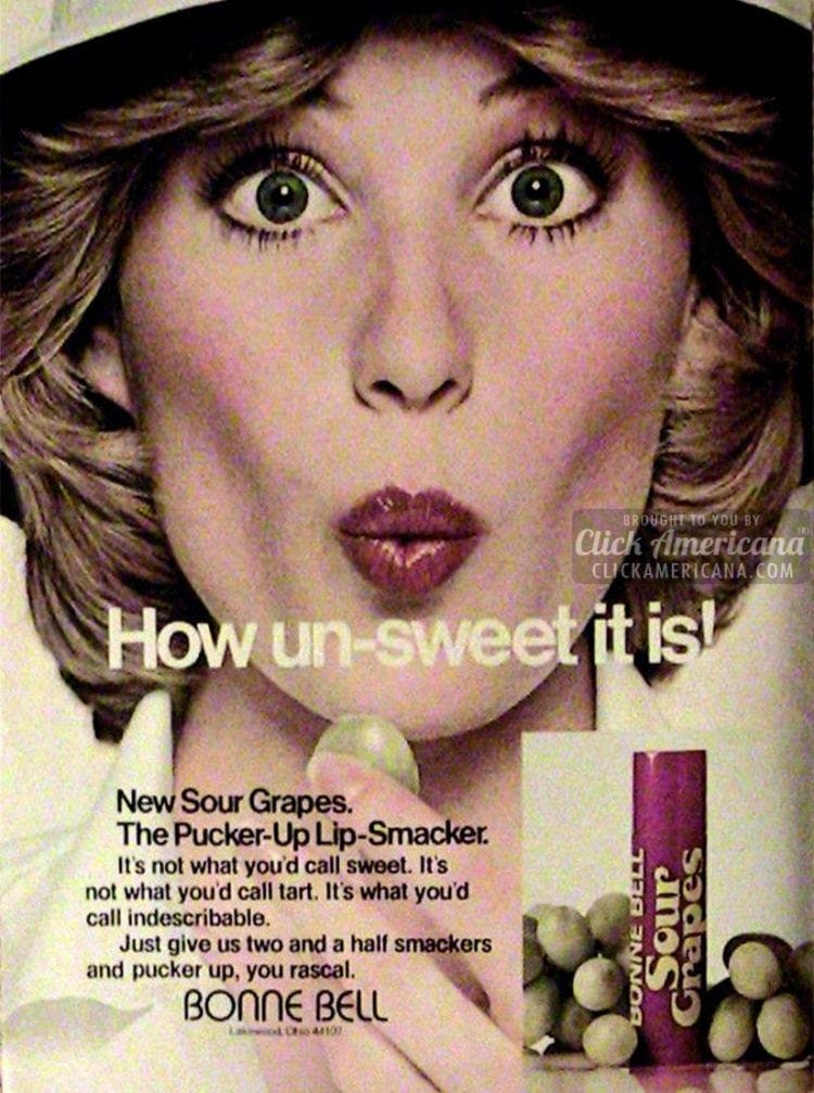 Sour Grapes flavor vintage lip smackers