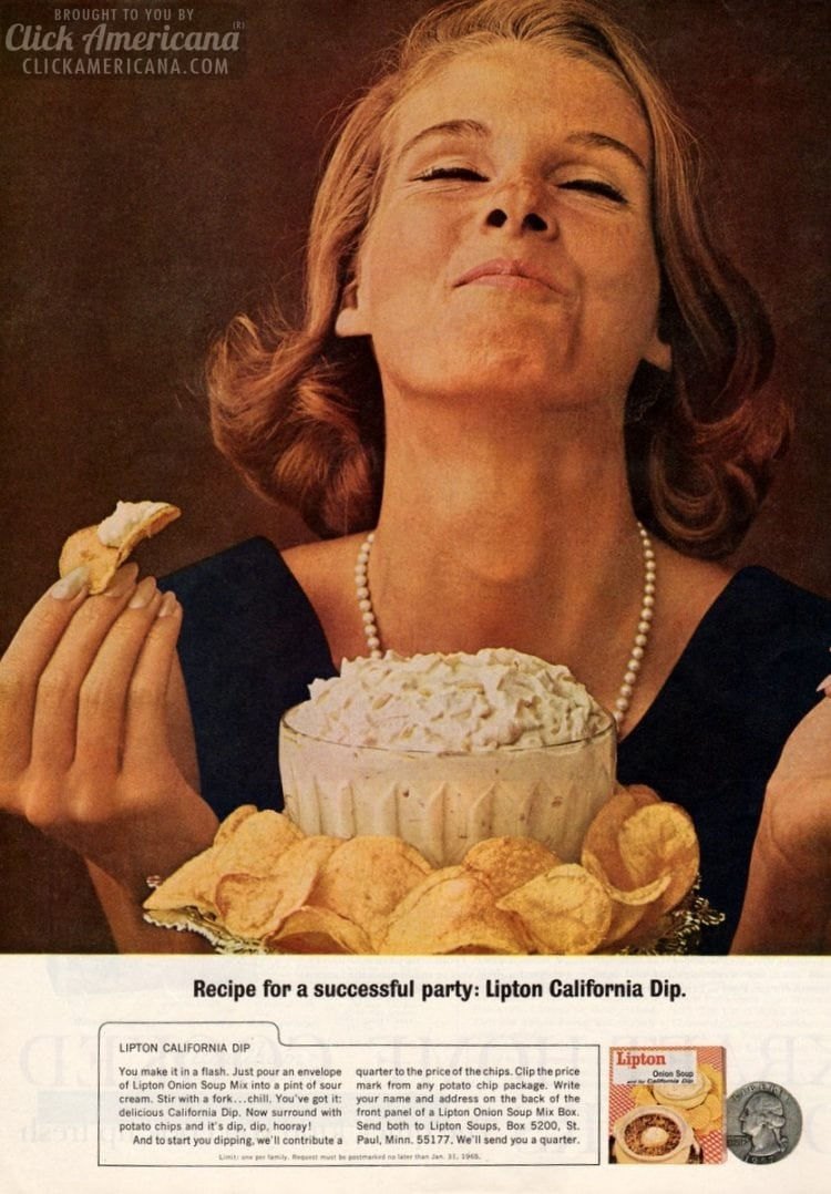Recipes for a successful party: '60s California Dip & international variations