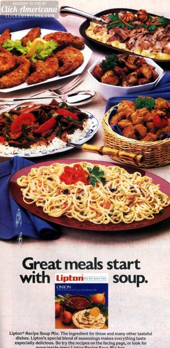 Chicken Nuggets, Primavera & Beef Stroganoff recipes (1987)