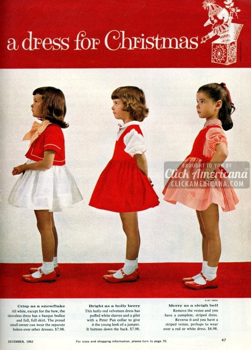 Sweet sugarplums: Christmas dresses for little girls (1962)