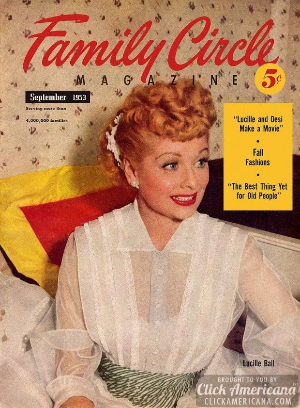 Family Circle magazines with Lucille Ball