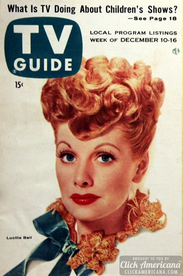 Vintage magazines with Lucille Ball