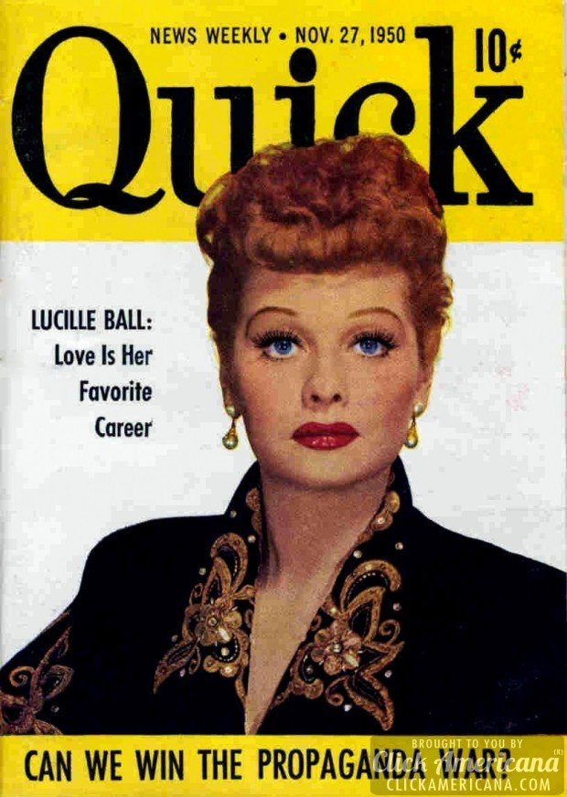 Quick magazines with Lucille Ball from 1950