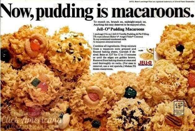 Jell-O pudding macaroons (1968)