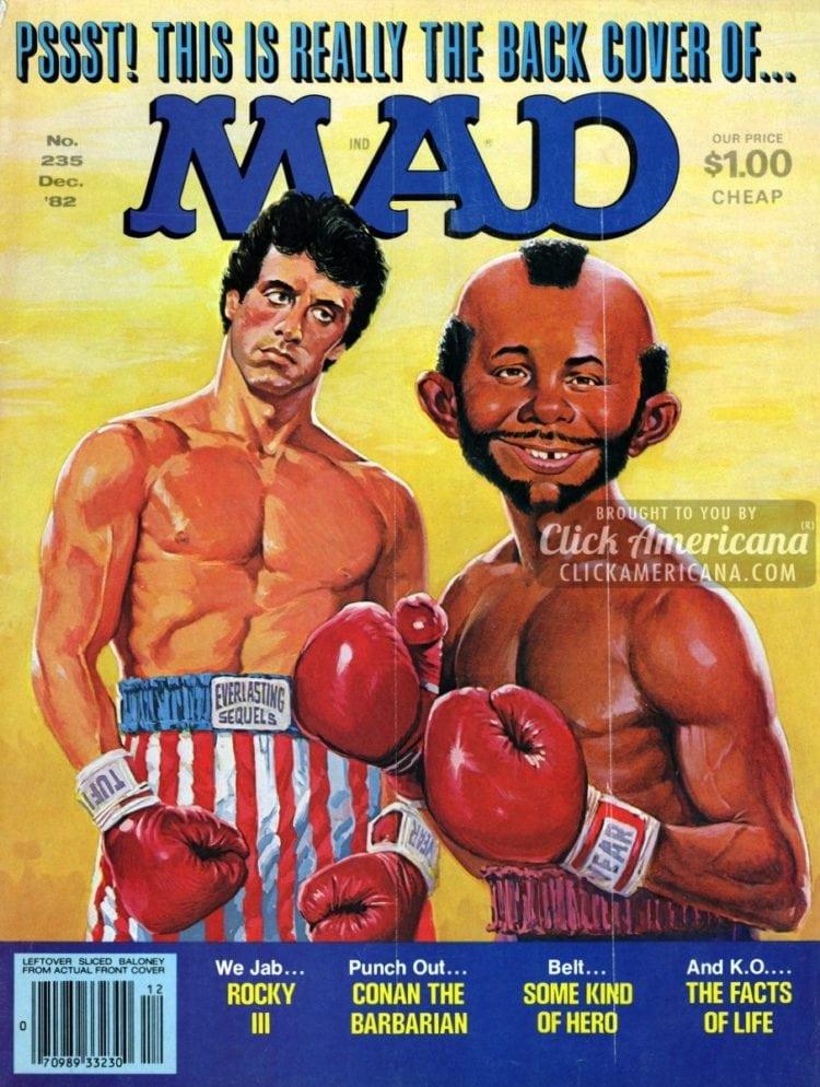 Vintage MAD December 1982 (A): Rocky & Mr T