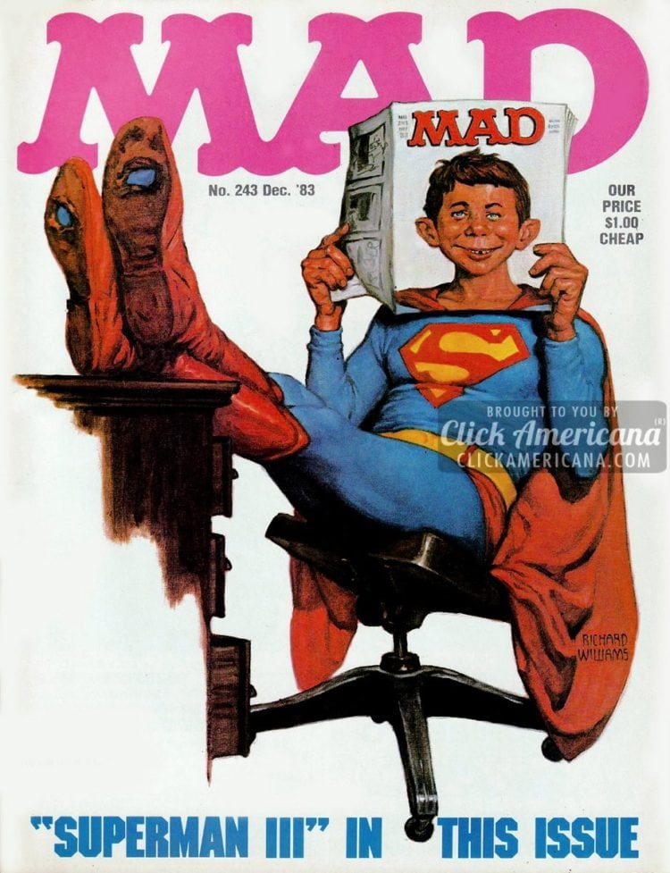 MAD December 1983: Superman III