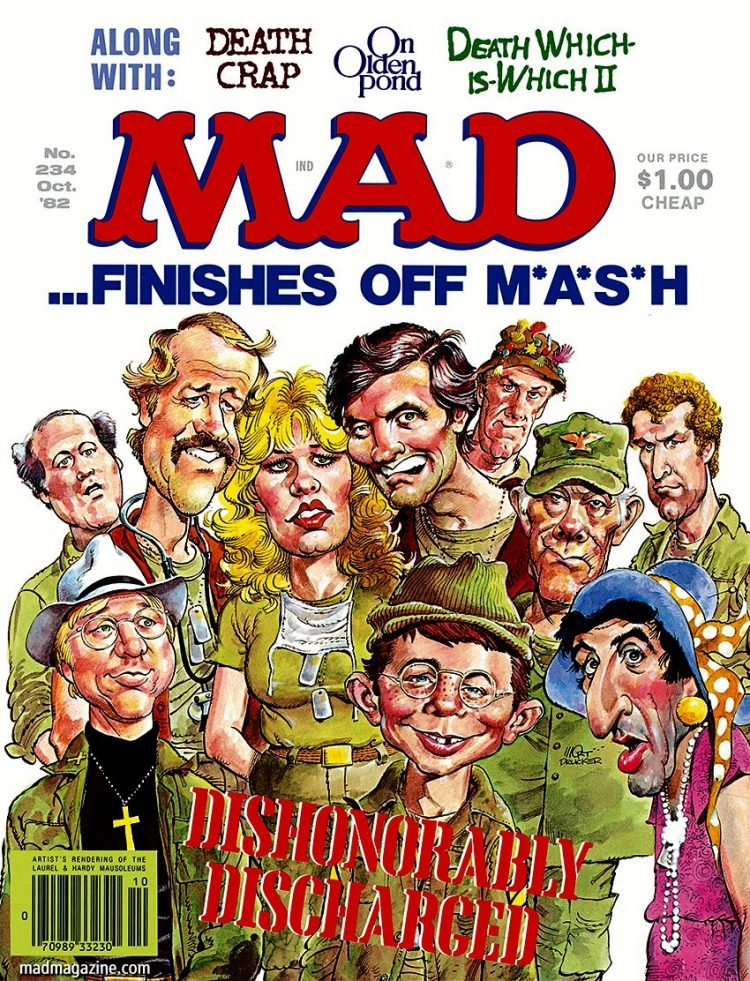 Mad Magazine cover wtih MASH