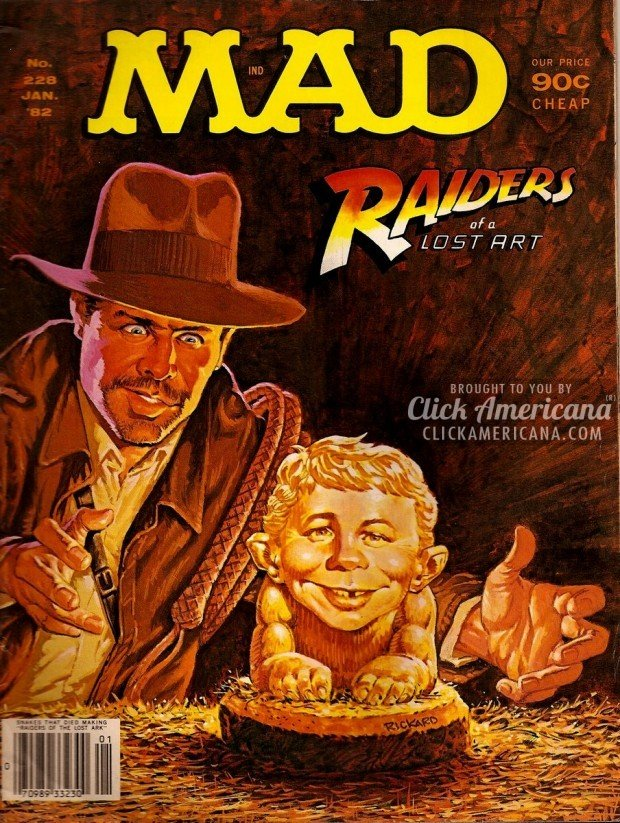 Vintage MAD January 1982: Raiders of a Lost Art