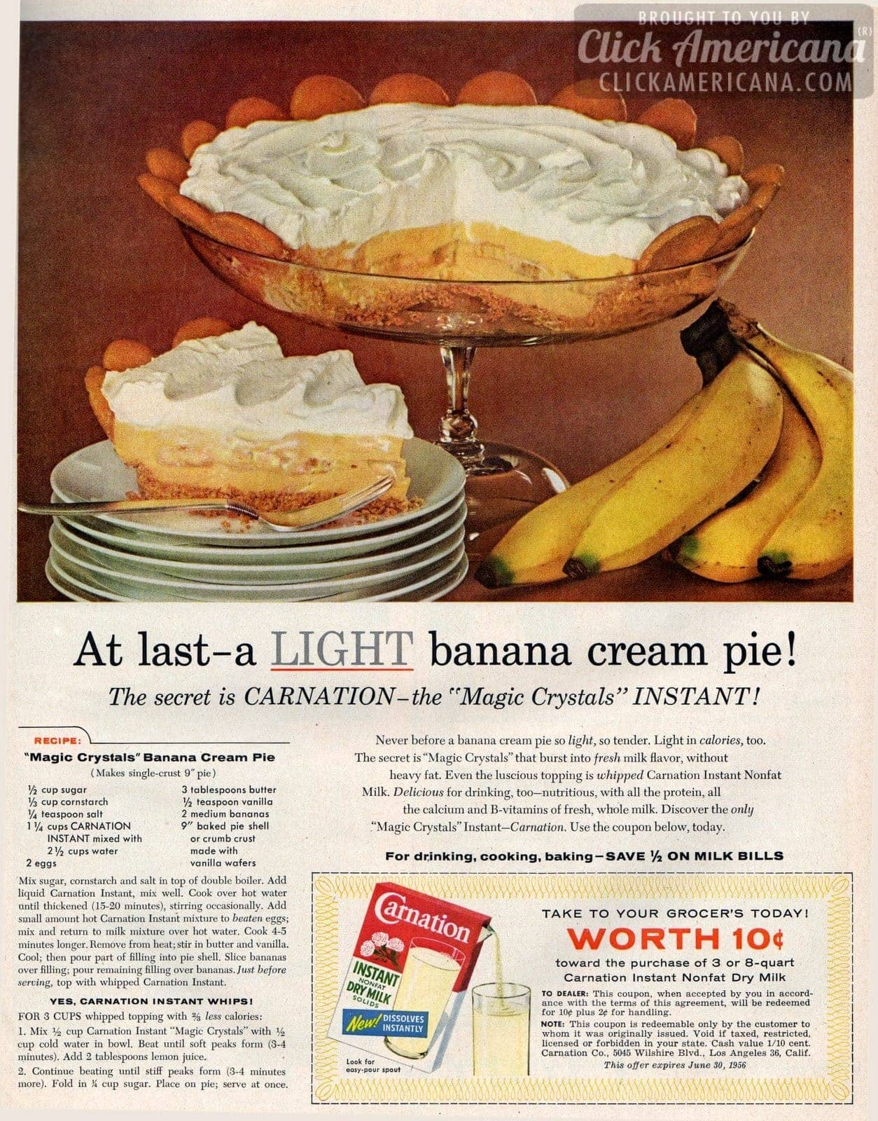 """Magic Crystals"" Banana Cream Pie (1956)"