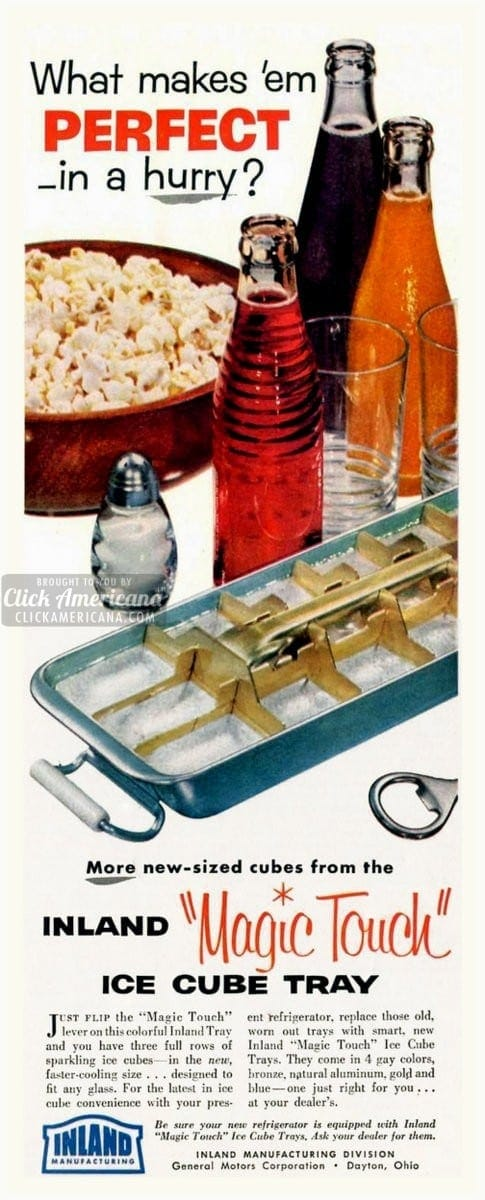 Retro metal ice cube trays - retro honeycomb kitchen freezer accessories