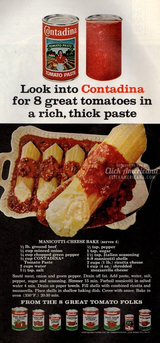 Manicotti-Cheese Bake (1968)