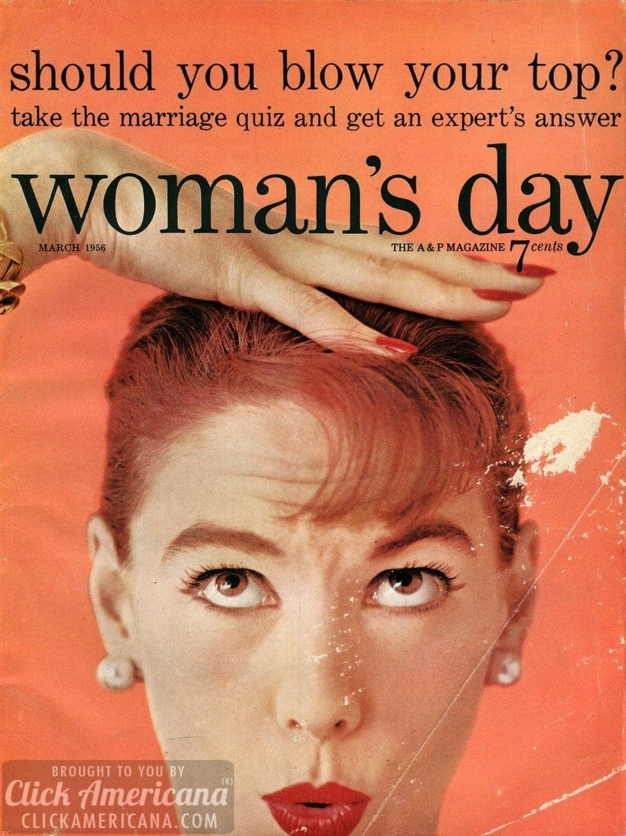 Woman's Day magazine cover: March 1956