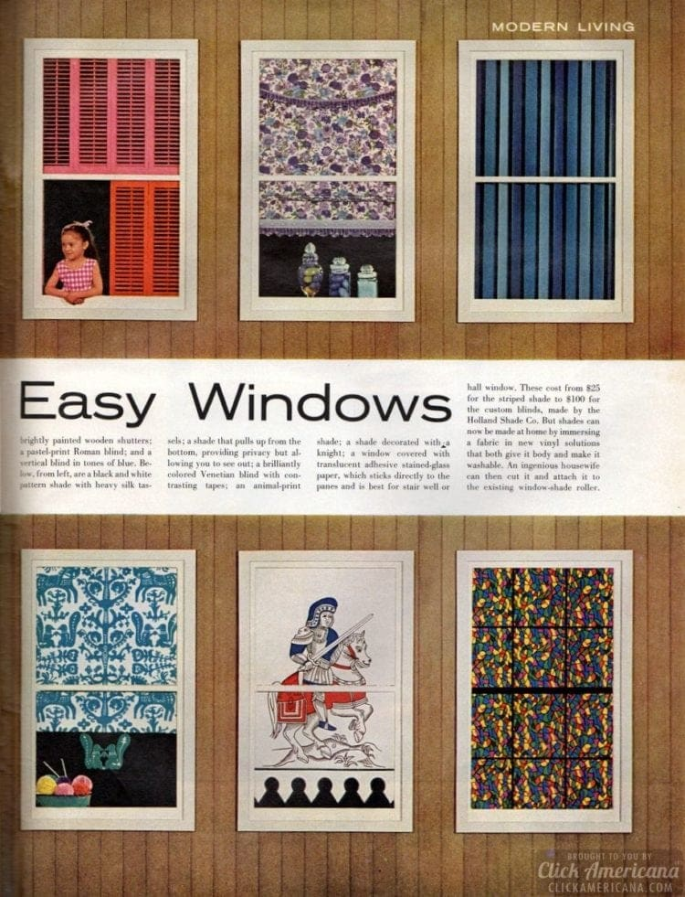 Bright, breezy easy windows: 12 new ways to decorate (1963)