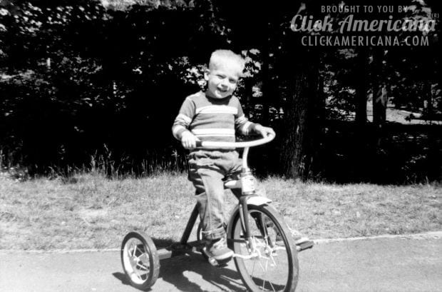 mark-on-tricycle-vintage-photo