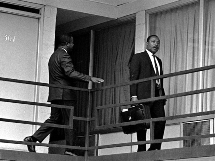 MLK Jr the day before the fatal shooting