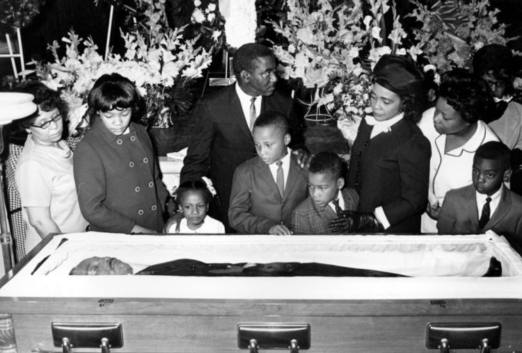 Dr Martin Luther King Jr's funeral