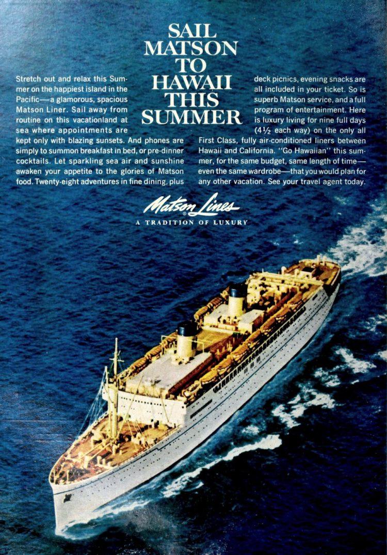 matson lines to hawaii 1961