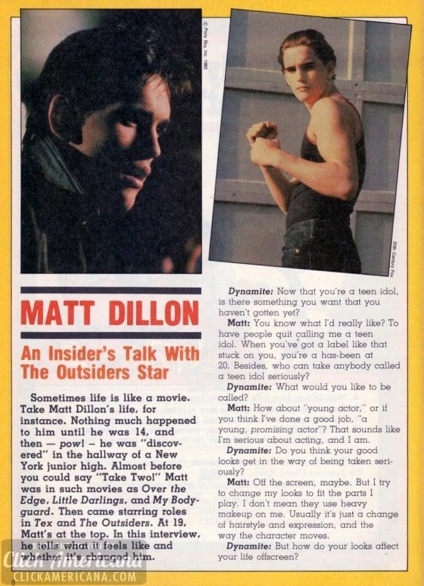 Matt Dillon Outsiders