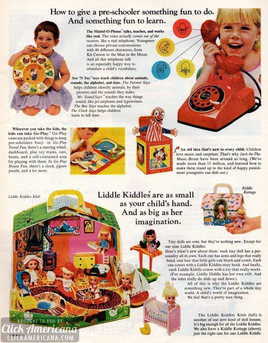 Latest Mattel toys & games for Christmas (1966)