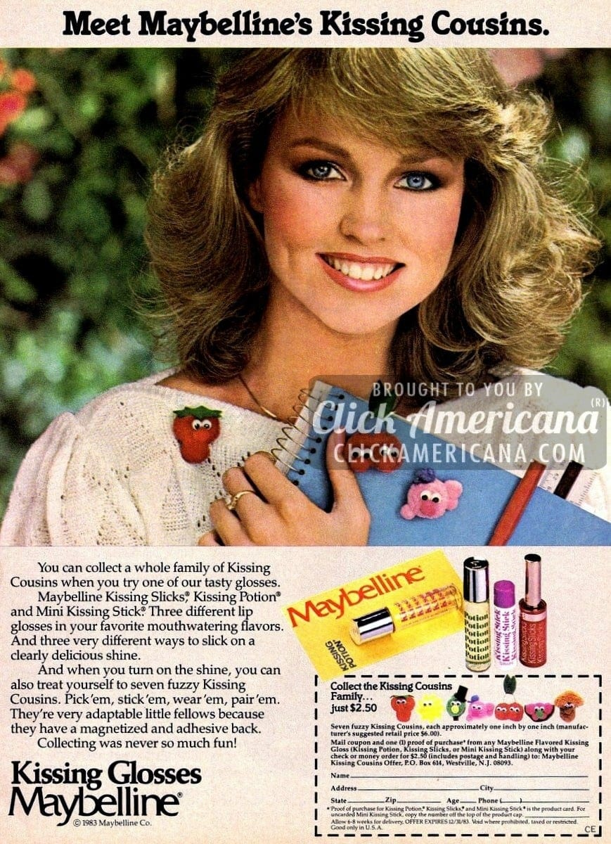 Kissing Potion, Glosses & Fresh from Maybelline (1980s)