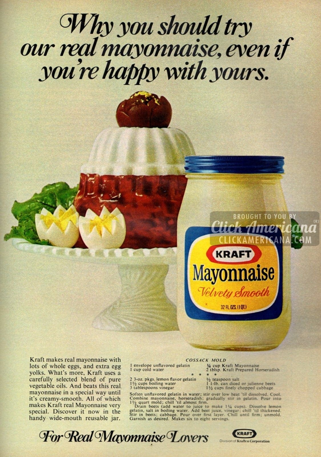 Savory Cossack mold with mayo (1972)