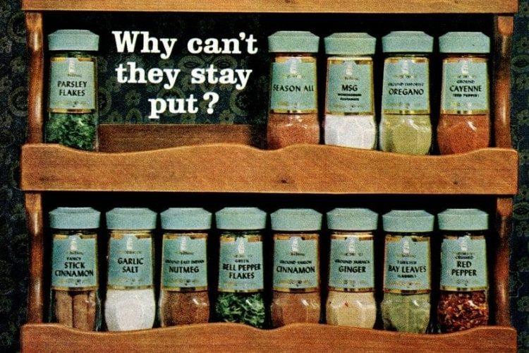 McCormick-Schilling spice racks (1964) - Click Americana