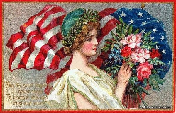 Vintage Memorial Day postcards