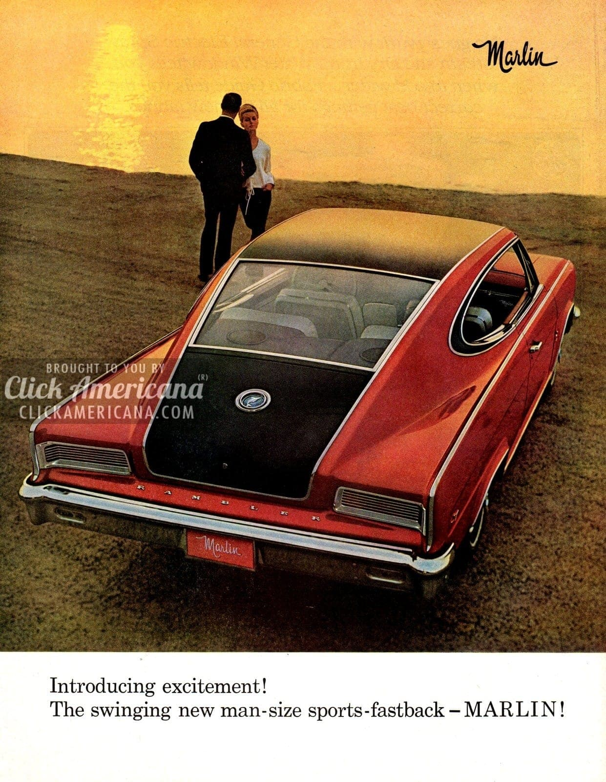 the swinging new mansize sports fastback marlin 1965