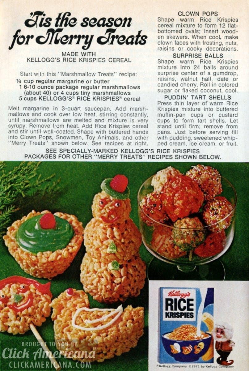 'Tis the season for Merry Rice Krispies Treats (1972)