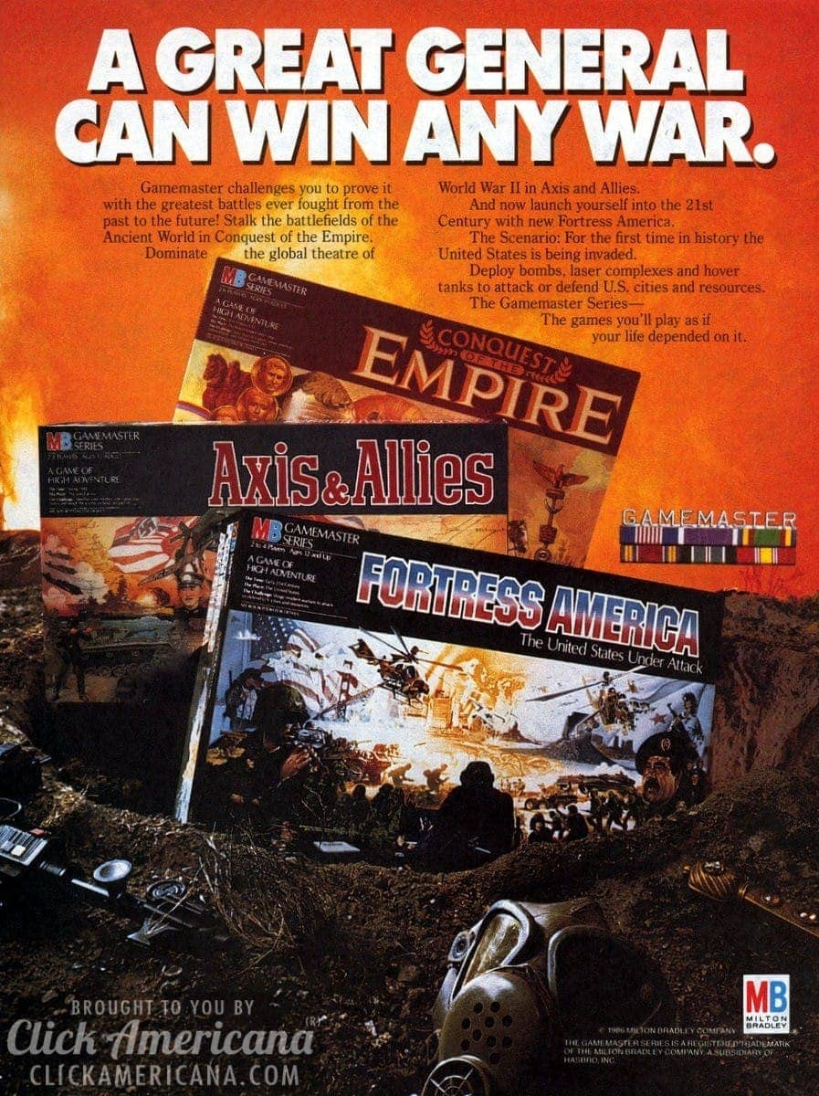 Fortress America, Axis & Allies, Conquest of the Empire (1986)