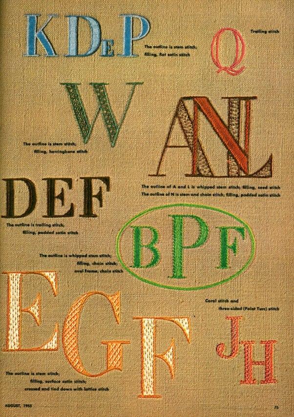 A new alphabet to embroider (1955)