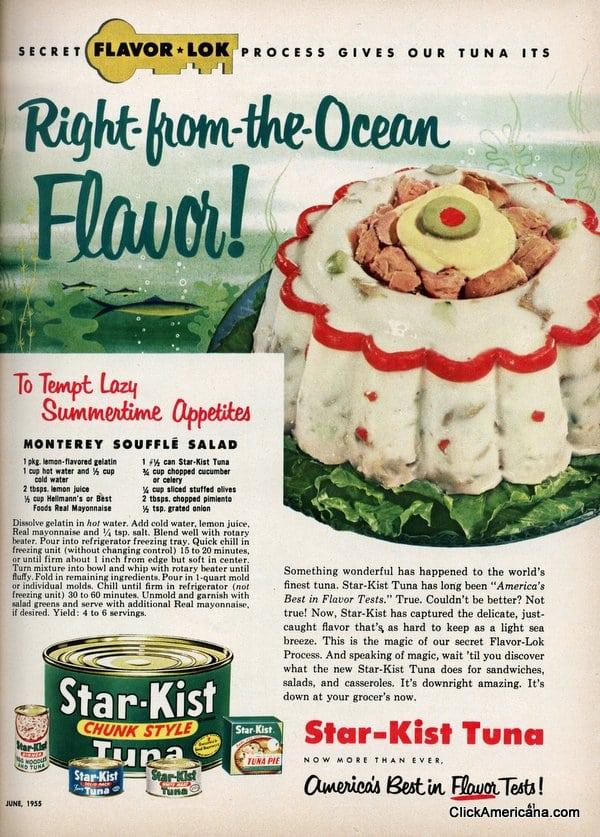 Monterey Souffle Salad Recipe 1955 Click Americana
