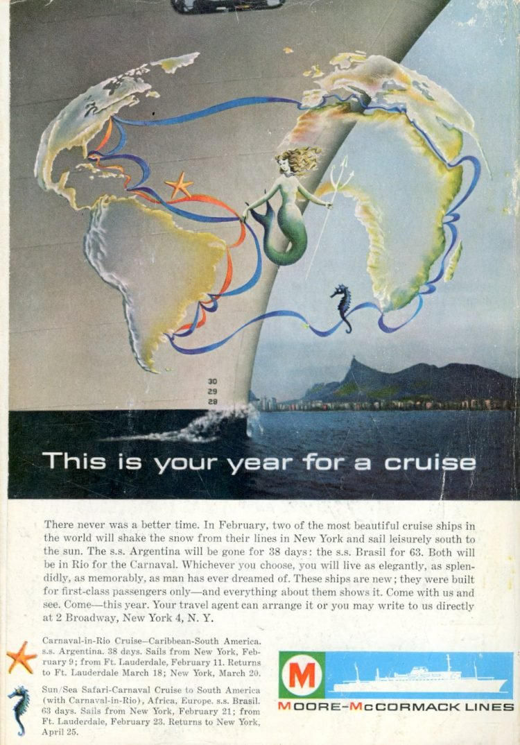 moore-mccormack cruise lines south american trip 1962