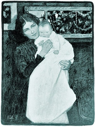 Modern & old-fashioned baby-rearing (1915)