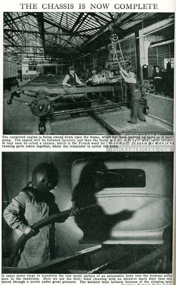 Building a motor car: The chassis is complete (1934)