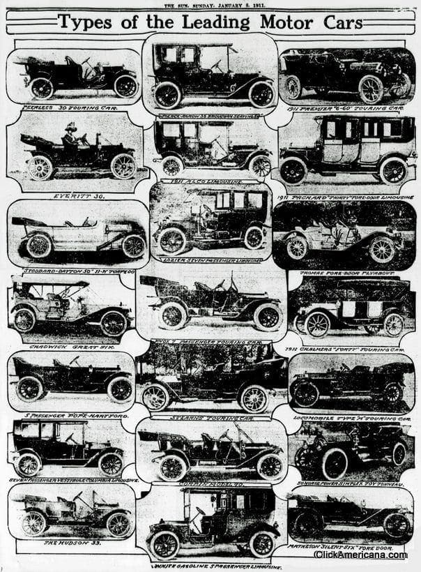 The top automobiles for 1911