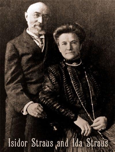 Titanic survivors Mr & Mrs Isador Straus