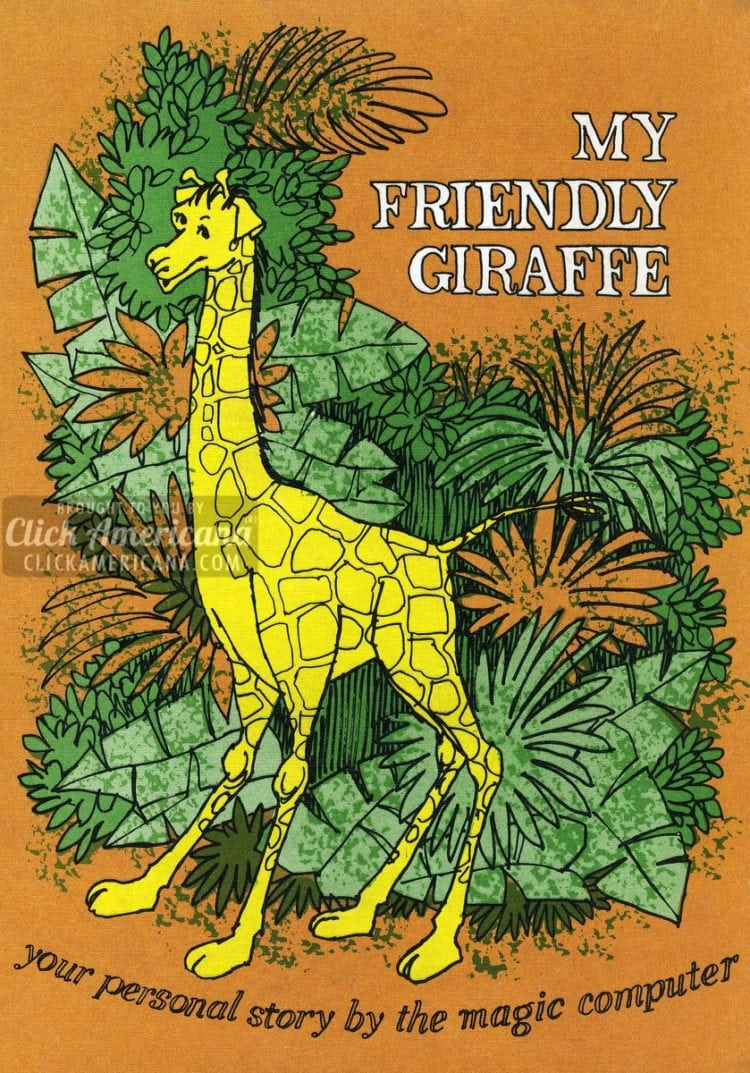 My Friendly Giraffe: A Me-Book - retro personalized books from the '70s