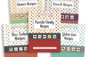 Myria's blank cookbook series