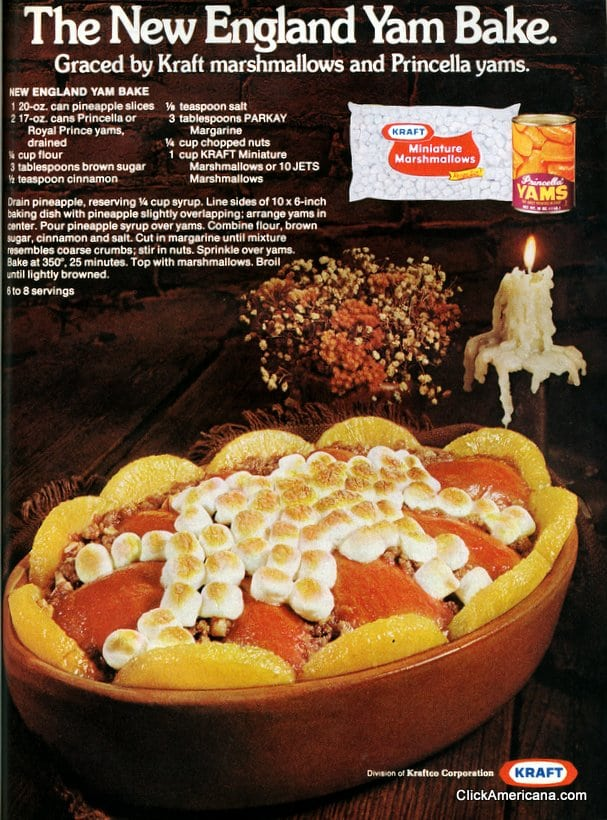 New England Yam Bake recipe (1975)