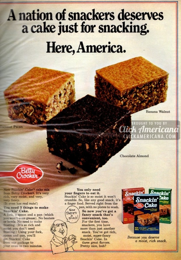 Snackin Cake Mix Bake Serve In 1 Pan 1972 Amp 1973