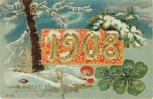 Happy new year postcards: 1907-1911 - Click Americana