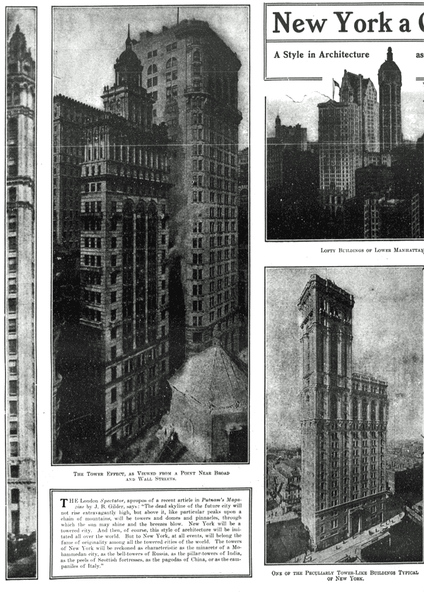 New York, a city of towers (1909)