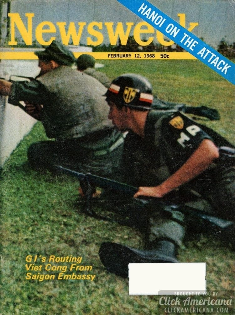 GIs routing Viet Cong from the Saigon Embassy Newsweek, 02-12-1968