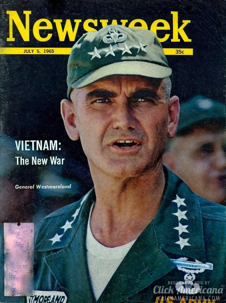 Vietnam: The new war General Westmoreland on the cover ofNewsweek, 07-05-1965
