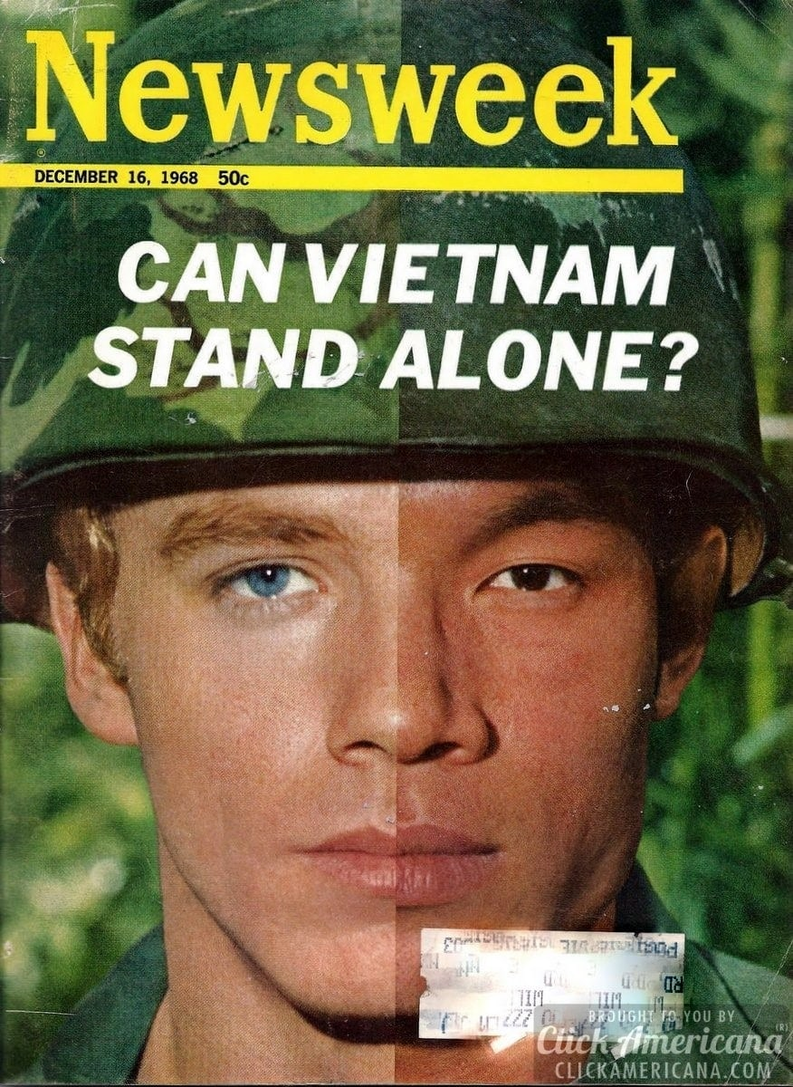 The Vietnam War, as seen on Newsweek magazine covers (1965-1973)