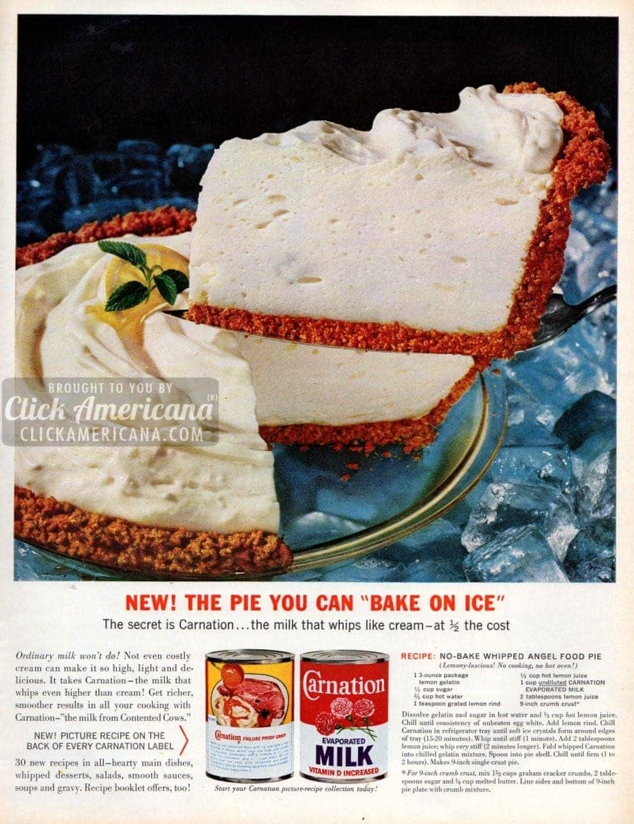 No-bake whipped angel food pie (1963)