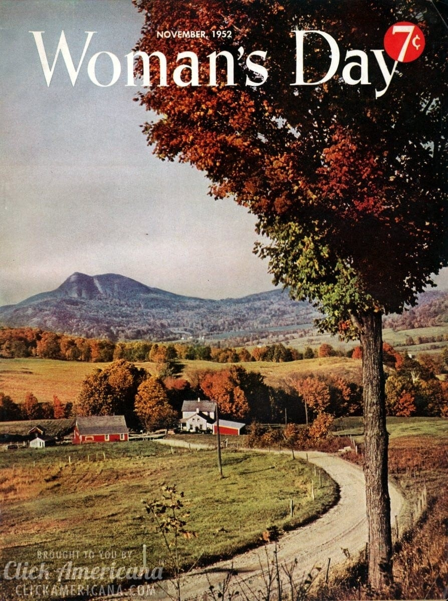 Woman's Day magazine cover: November 1952